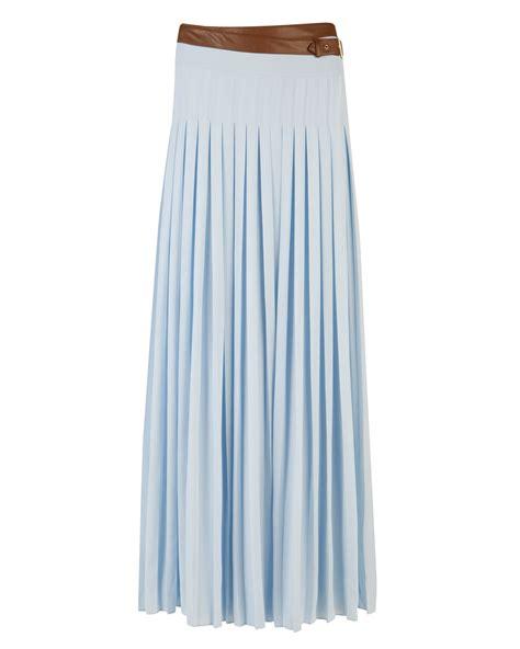 ted baker galva pleated maxi skirt in blue light blue lyst