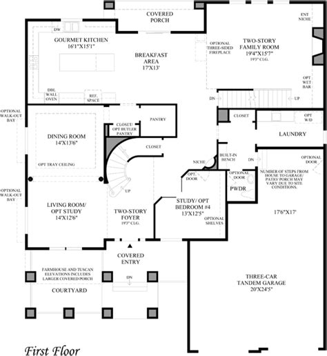 Toll Brothers Floor Plans by Toll Brothers At Backcountry Luxury New Homes In