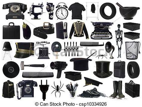 imagenes de objetos a blanco y negro stock fotos de collage objetos negro collage de