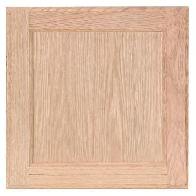 oak kitchen cabinet doors 12 75x14 in cabinet door sle in unfinished oak hbksmpldr uf the home depot