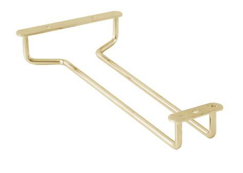 Glass Holder Shelf by 10 Quot Wine Glass Hanger Holder Brass Plated Cabinet