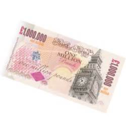 one million pound note gifts free delivery