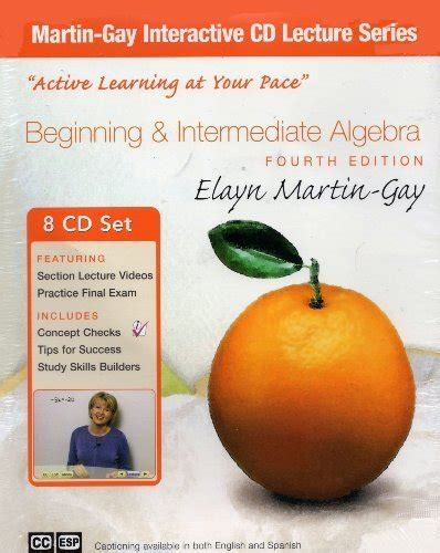 Pdf Beginning Intermediate Algebra Elayn Martin by Beginning And Intermediate Algebra Cd Lecture Series By