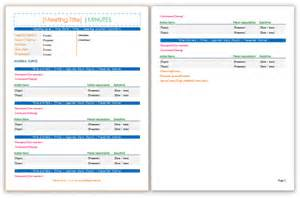 meeting minutes template save word templates