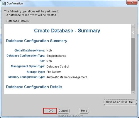 oracle tutorial create database ตอนท 2 การสร าง database และ instance ใหม บน oracle