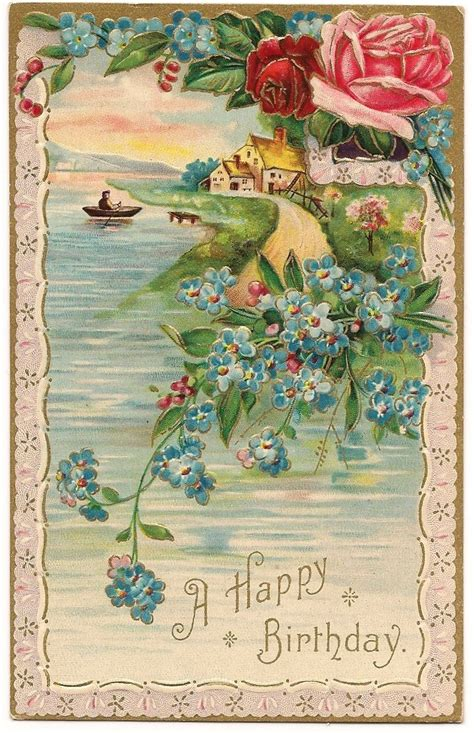 free printable victorian birthday cards victorian birthday card print illustration pinterest
