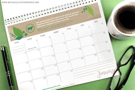 printable calendar 2016 botanical paperworks free printables four stylish 2018 calendars blog