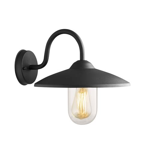 arlec 60w bristol wall farm light black bunnings warehouse