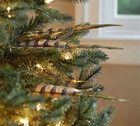 gold tipped feather tree pick pottery barn