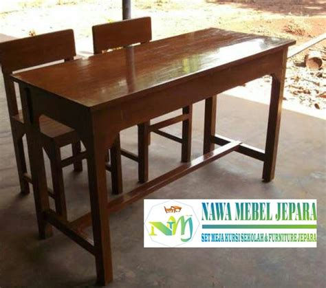 Meja Kayu Akasia set meja sekolah akasia jual meja dan kursi