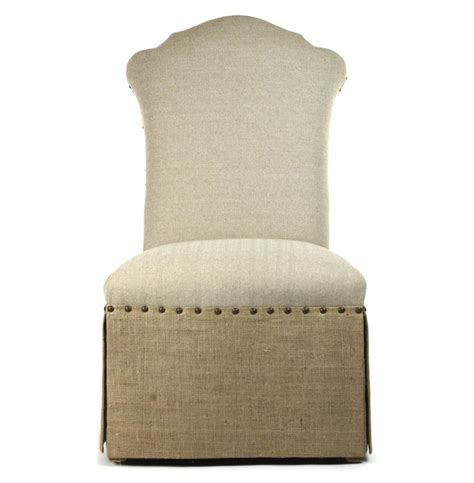 country jute linen skirted dining chair kathy kuo