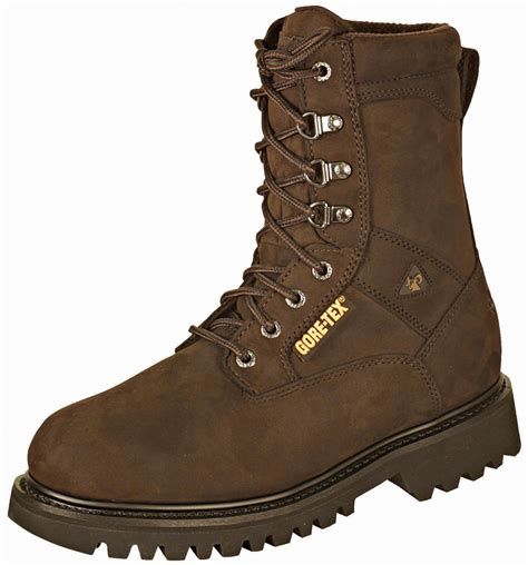 mens insulated boots rocky mens brown leather ranger steel toe goretex
