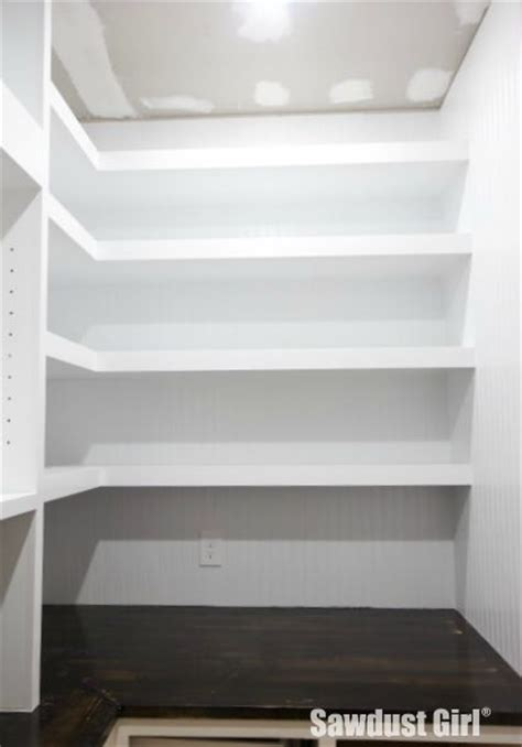 How To Make Pantry Shelves by Pantry Floating Shelves Sawdust 174