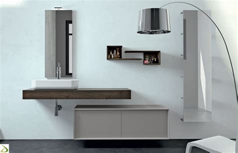 arredi design bagno giglio con specchio contenitore arredo design