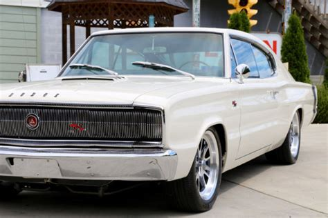 dodge charger rt white 1966 dodge charger rt white 383 v8 automatic for sale