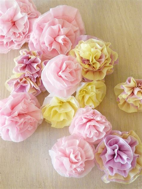 How To Make Crepe Paper Flowers Easy - icing designs lovely crepe paper flowers