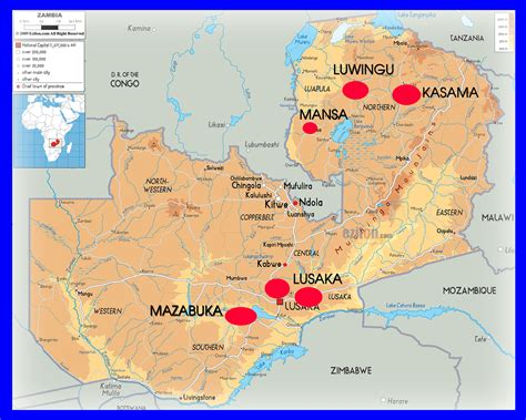 printable map of zambia zambia afm salesian sisters