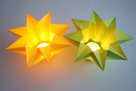 origami kerzenhalter teelichthalter aus papier falten my