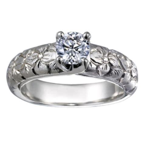 Carved Flower Rings by Custom Ring Carved Flower Ring