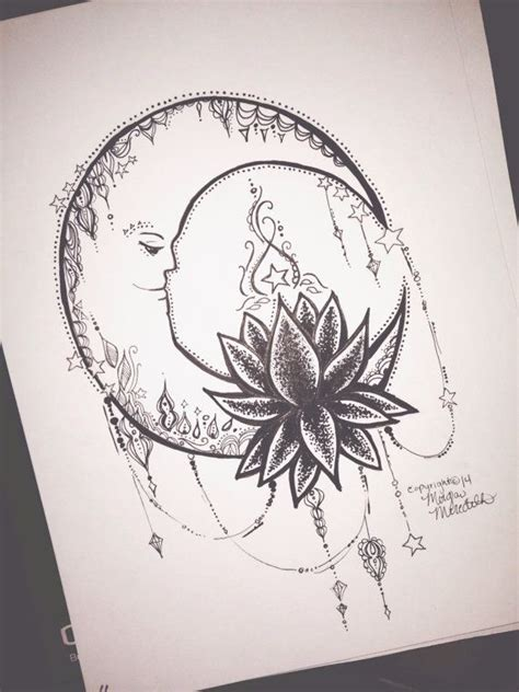 tattoo design etsy lotus moon by morganscanvas on etsy 5 99 love the moon