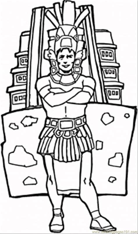 Aztecs Coloring Pages Free Printable Coloring Page Man Aztec Coloring Pages