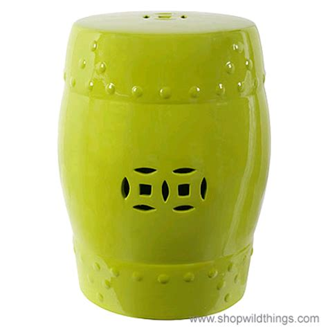 Stool Is Lime Green by Lime Green Garden Stool Lime Ceramic Garden Stool Indoor