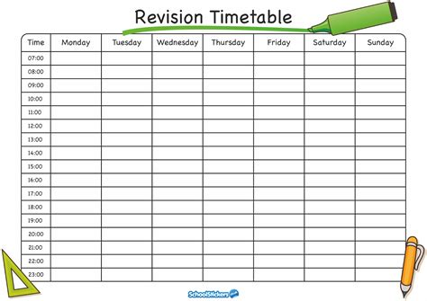 Timetable Templates For School In Excel Format Excel Template Timetable Template
