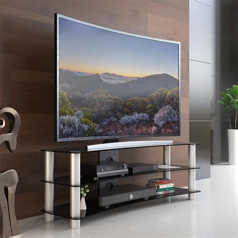 Tempered Glass Universal 4 45 47 55 fitueyes tv stand entertainment center media furniture fit