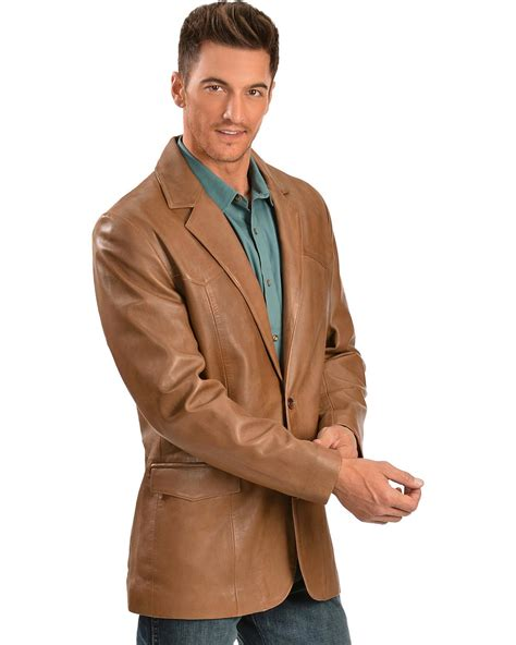 Blazer J 189 scully s leather blazer regular 501 189