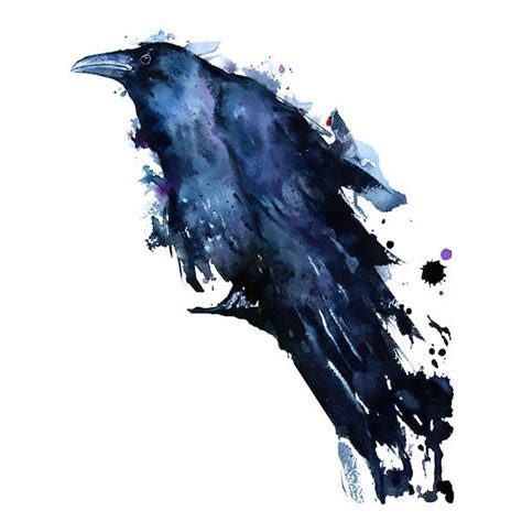 watercolor tattoo raven great watercolor design