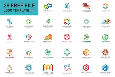 28 Free Logo Templates Free Design Resources Logo Design Templates