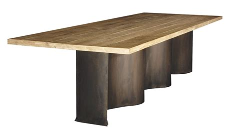 Reclaimed Wood And Steel Dining Table Custom Made Reclaimed Wood And Steel Dining Table By Fig Custommade