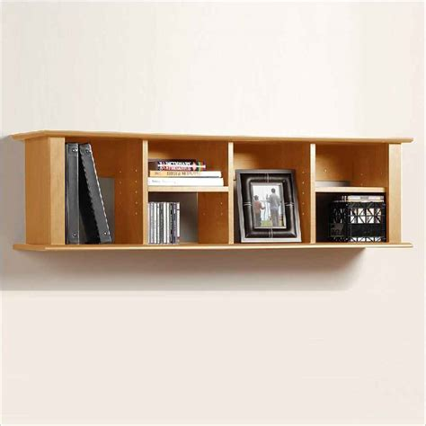 organized wall mount bookshelf for more room space
