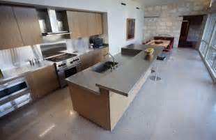 polished concrete kitchen floor home kitchen