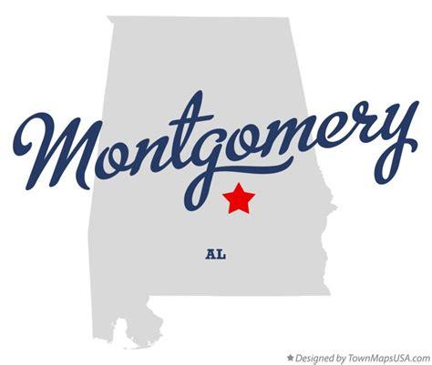 montgomery alabama map map of montgomery al alabama