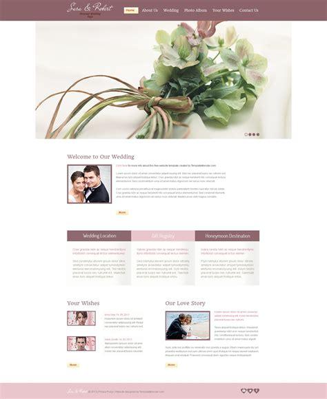 Kostenlose Vorlage Hochzeit Website Vorlage 51643