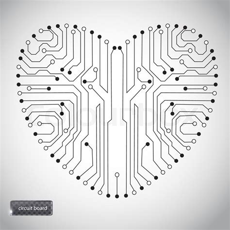 shape pattern generator white circuit board heart data set