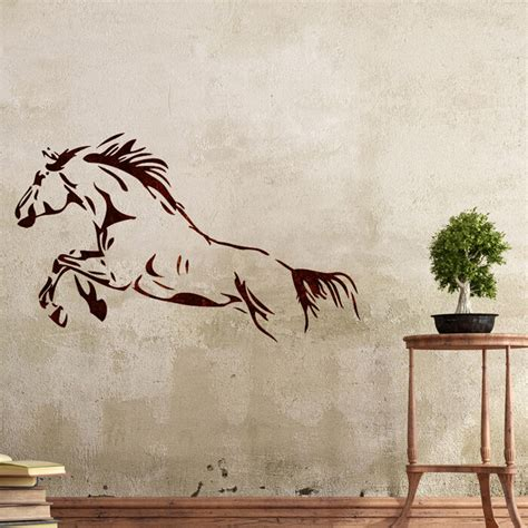 wall stencils horse stencil large template  diy room