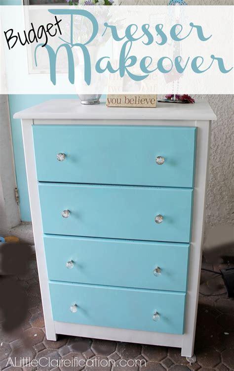Dresser Makeover by A Not So Empty Nest A Budget Dresser Makeover A