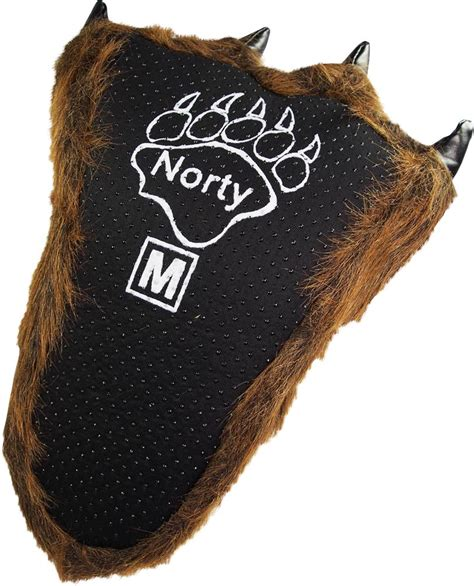 big animal slippers norty adults big foot grizzly claw slippers brown