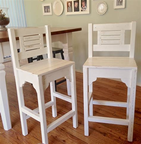 Bar Plans by White Vintage Bar Stools Diy Projects