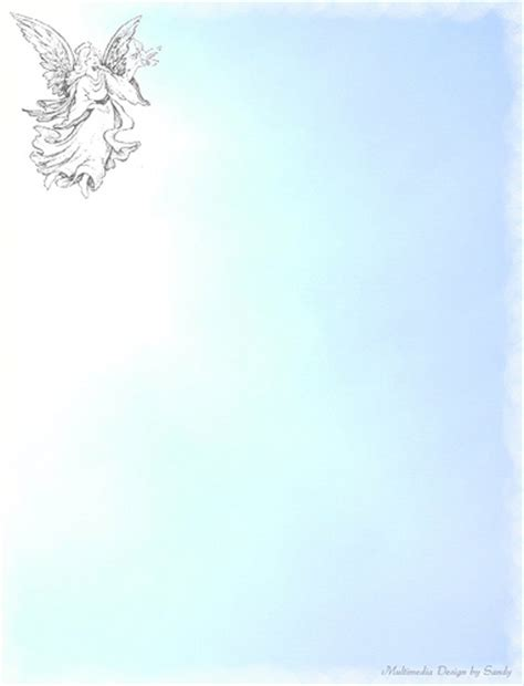 printable angel stationery angel in the sky stationery for free printable size go