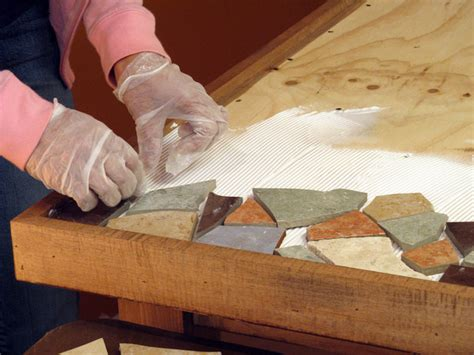 how to make a glass mosaic table top how to make a mosaic tile tabletop how tos diy