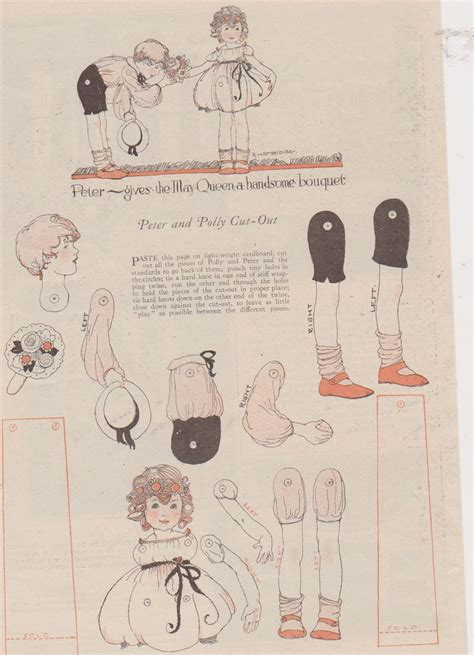 printable jointed paper doll 1000 images about jointed paper dolls and puppets on