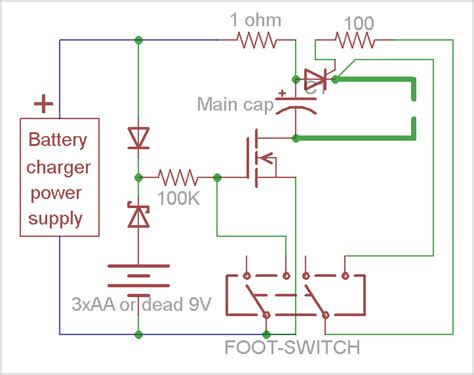 capacitor discharge spot welding circuit battery spot welder schematics battery free engine image for user manual