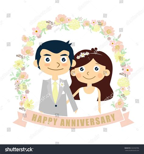 Wedding Anniversary Cards Design Vector by Happy Anniversary Card Wedding Vector
