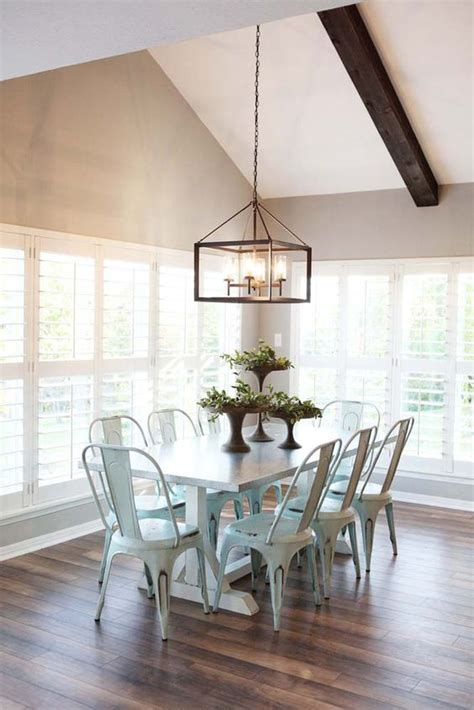 modern farmhouse light fixtures new favorite show fixer upper metal chairs love the