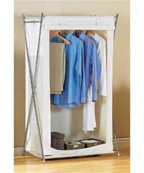 Canvas Wardrobe Assembly by Canvas Style And Chrome Effect X Frame Single Wardrobe