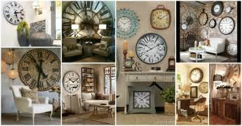 large home decor accents using wall clock for home decoration ward log homes