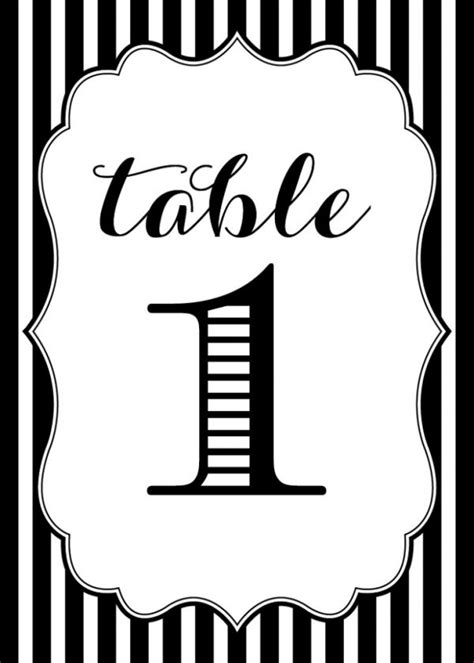 printable table number templates free printables wedding table numbers www
